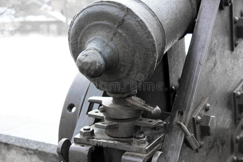 Old cannons in the park.  stock images
