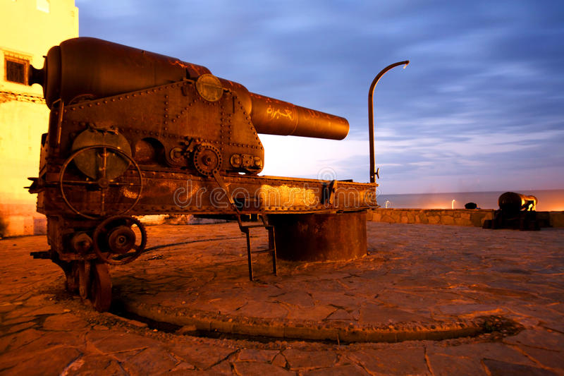 Download Old canon in Tangier stock image. Image of metal, defend - 13628585