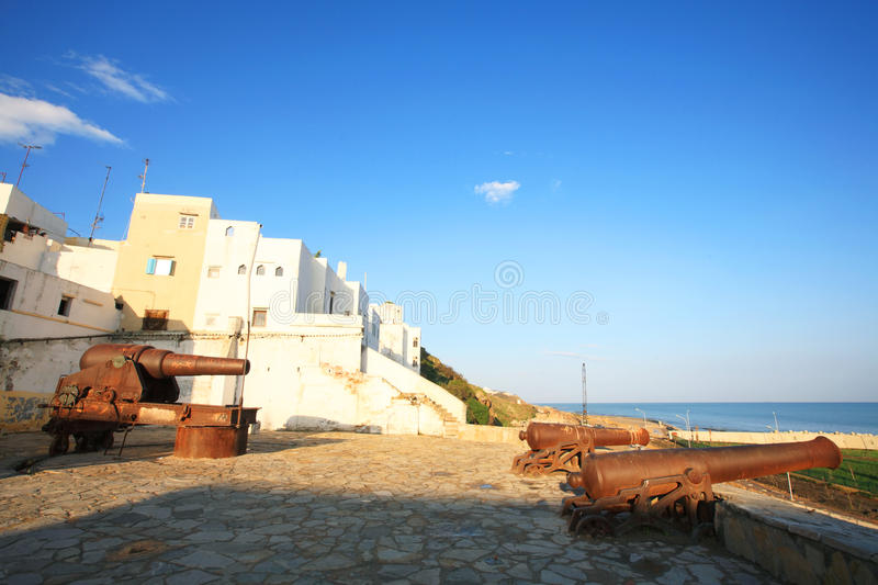 Download Old canons in Tangier stock image. Image of mosaique - 13638807