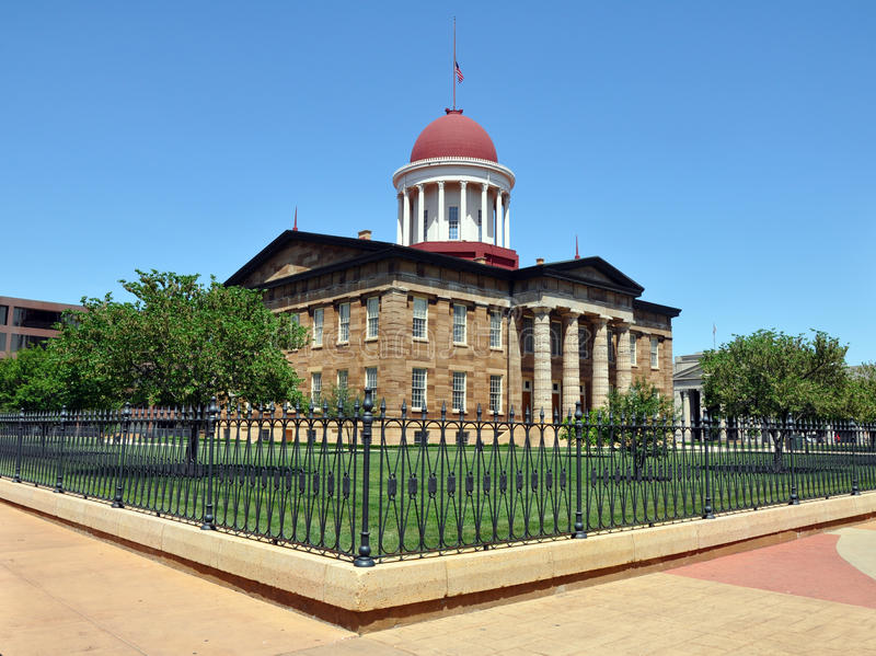 Old capitol building, Springfield, IL stock image