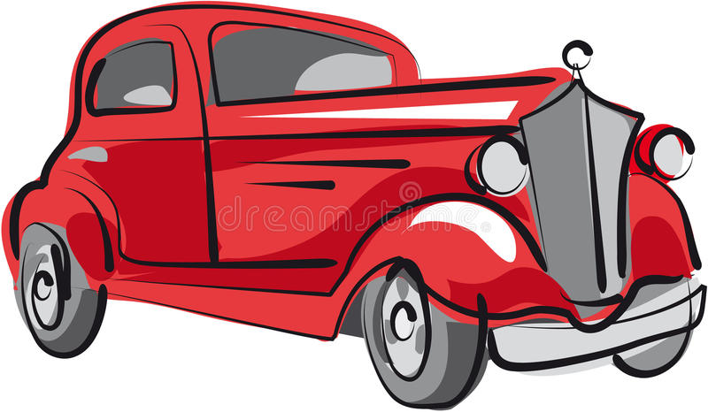 Download Old car stock vector. Illustration of autoshow, scarcity - 13197839