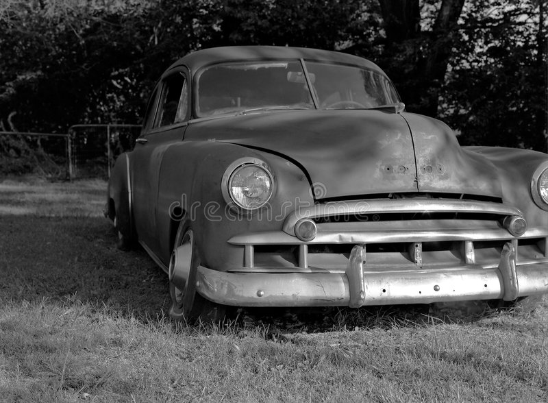 Download Old Car stock photo. Image of field, discolored, headlight - 2304386