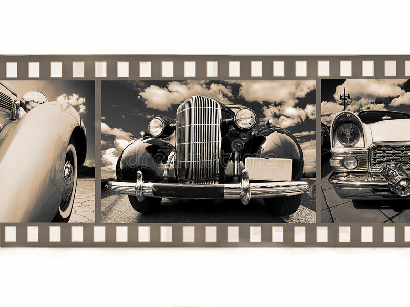 Old car on 35mm film