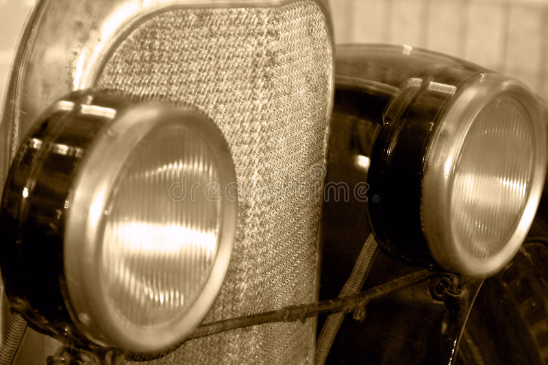 Old car. Close up, detail stock images