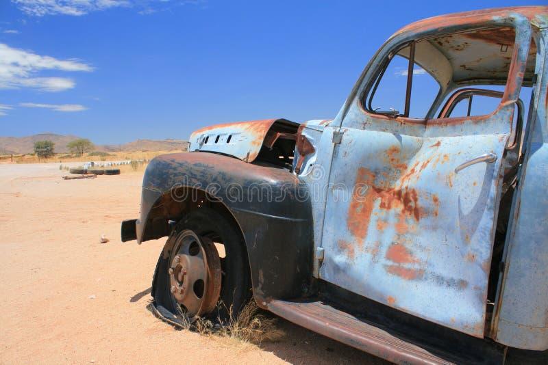 Old car breakdown royalty free stock photos