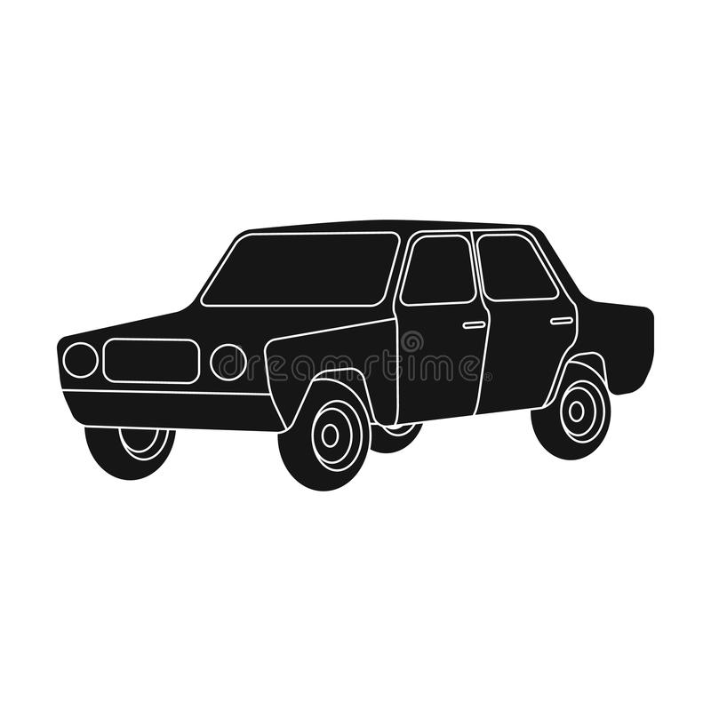 Vintage Style Hotrod Car Illustration Stock Vector