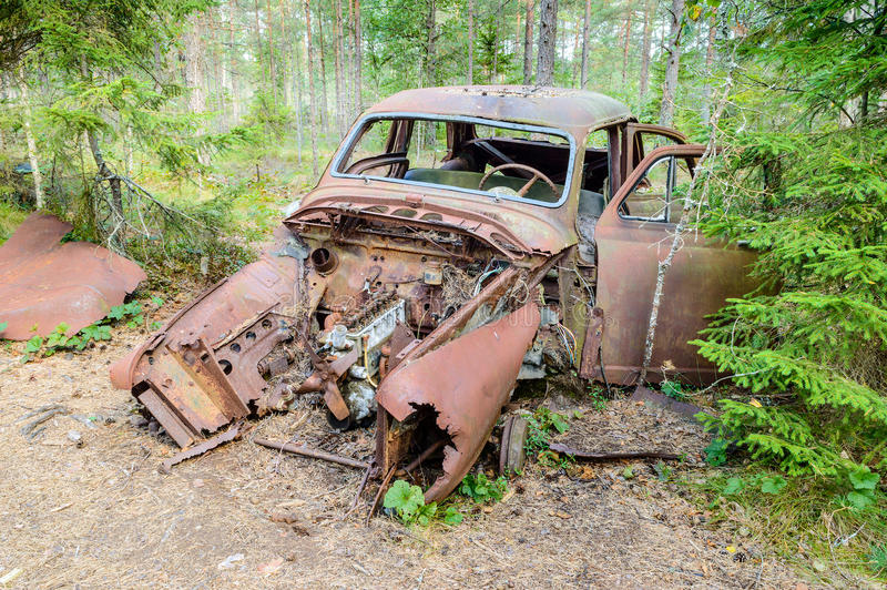 Download The old car cemetery stock photo. Image of degradation - 33255286