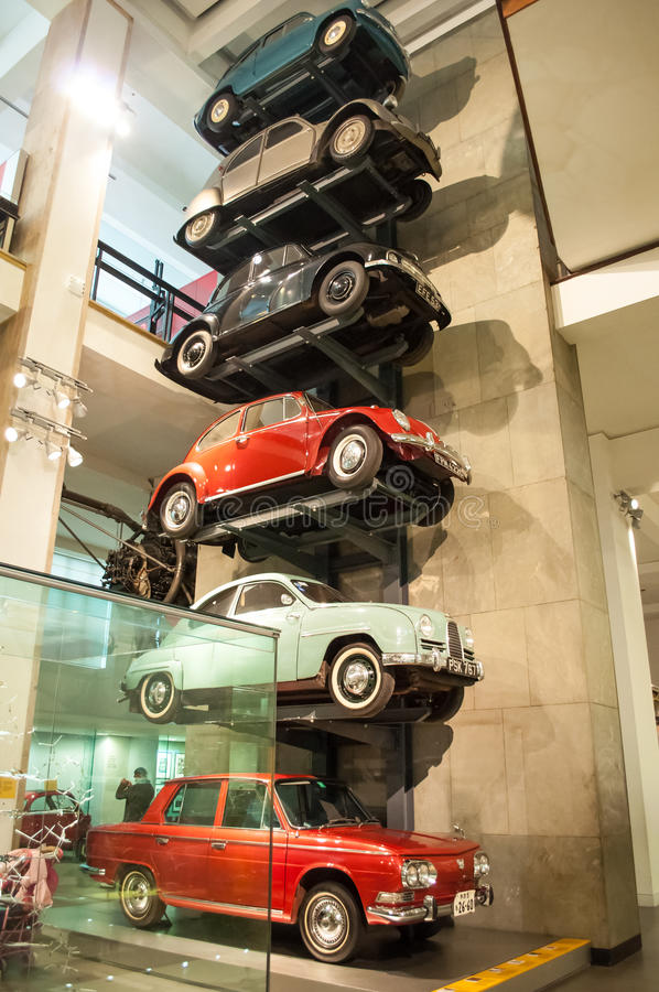 Old Car Collection Exhibited In The Museum Of Science Editorial ...