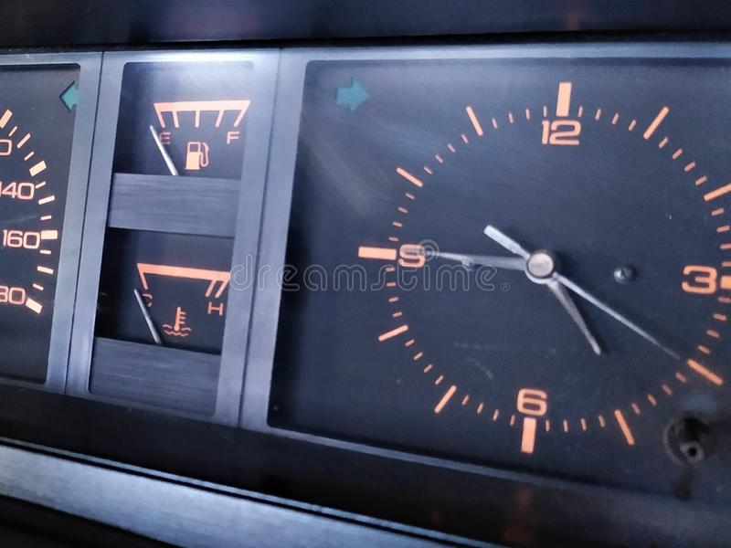 Old car dashboard royalty free stock images