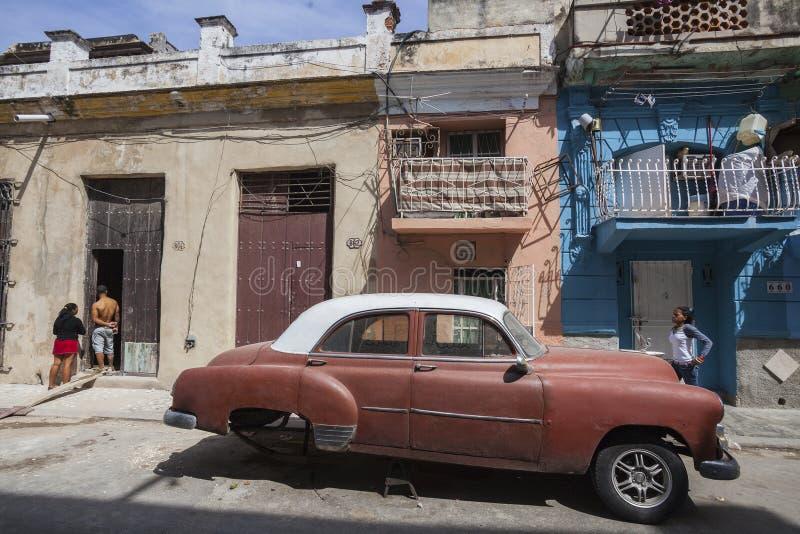 Old American car in Havana, Cuba stock image