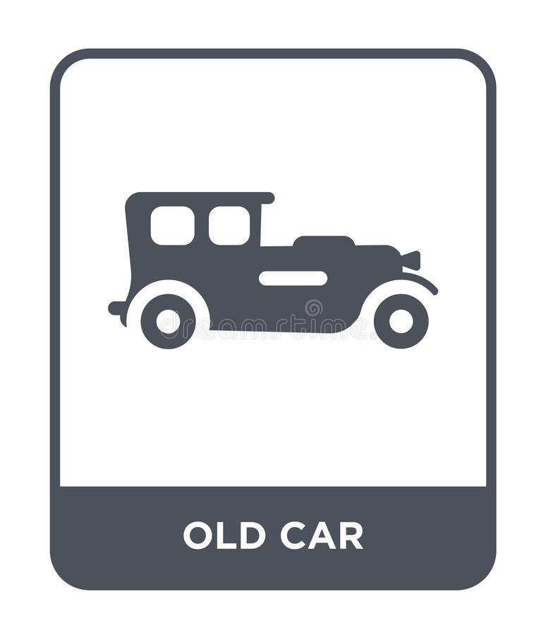 Old car icon in trendy design style. old car icon isolated on white background. old car vector icon simple and modern flat symbol. For web site, mobile, logo vector illustration