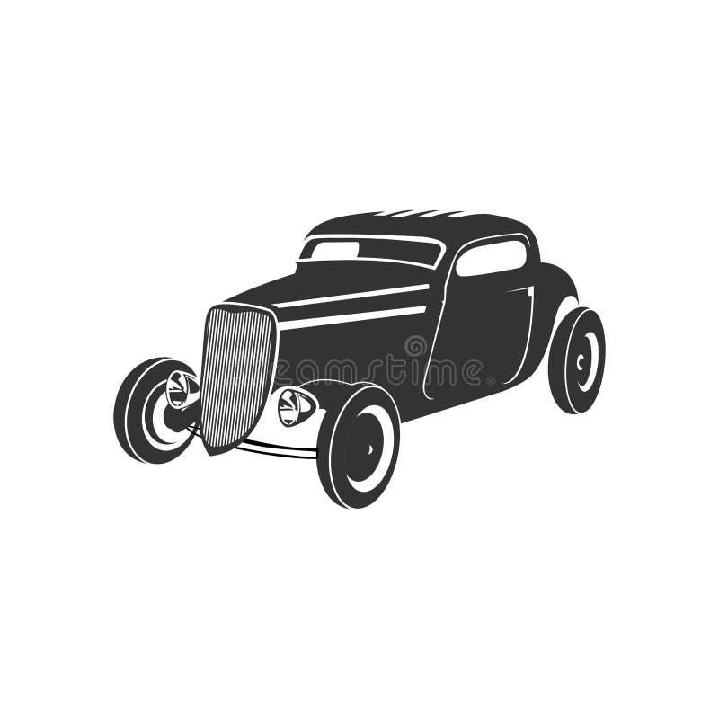 Old car logo. Old car, classic vintage logo royalty free illustration