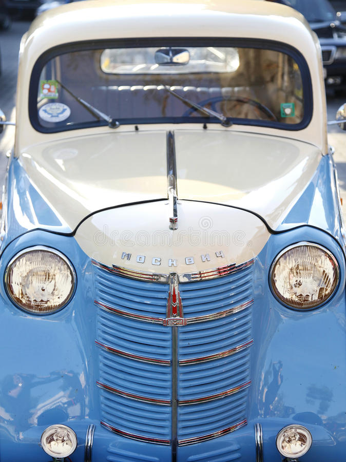 Download Old car Moskvich editorial stock photo. Image of front - 27029218