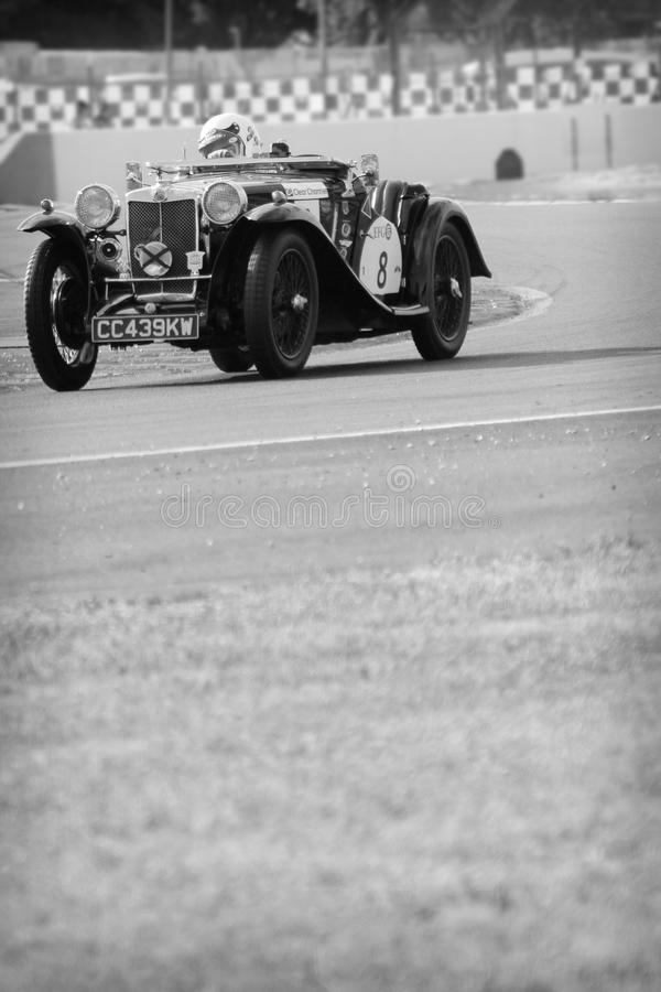 Old Car Racing At The Chicane Editorial Stock Photo - Image of july ...