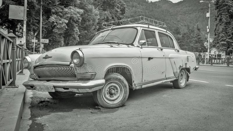 Old car volga gaz21. Old soviet car - Volga gaz21. working condition royalty free stock photos