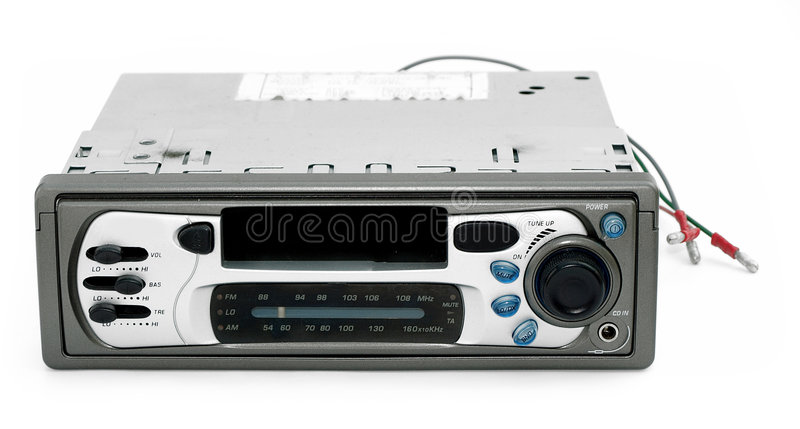 Download Old Car Stereo With Bare Wires Royalty Free Stock Photography - Image: 5268197