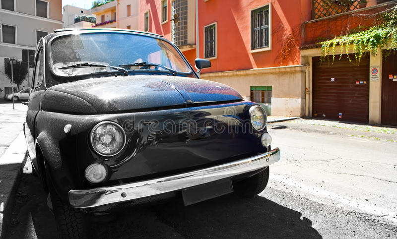 Download The Old Car On The Street Of Rome Stock Image - Image: 27491139