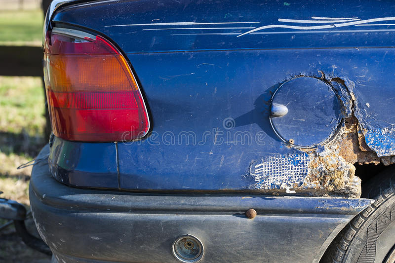 Download Old car with visible rust. stock image. Image of danger - 39036553