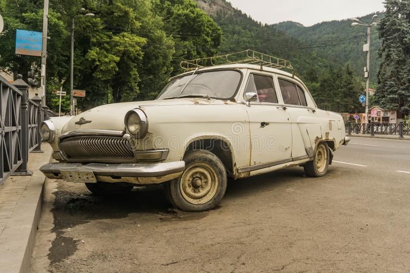 Old car - volga gaz21. Old soviet car - volga gaz21. working condition stock images