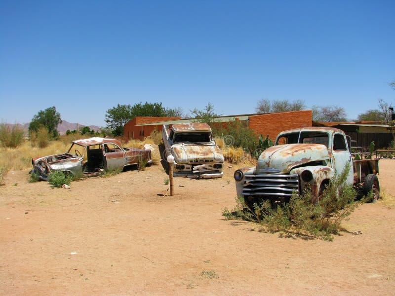 Old Car Wrecks On Namibian Desert Stock Photo - Image of africa ...