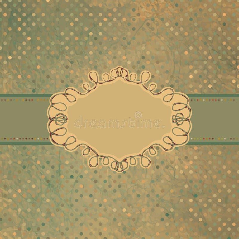 Download Old Card Design, Blue Vintage Frame. EPS 8 Stock Vector - Illustration of abstract, border: 21682663