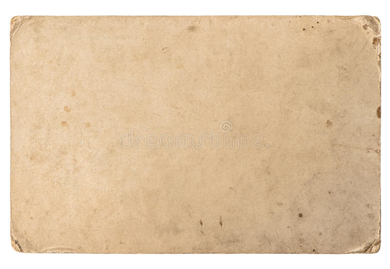 Old cardboard with edges. Vintage grungy paper texture royalty free stock images