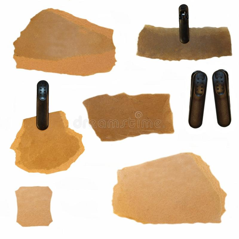 Download Old Cardboard Scraps And Plastic Clamp Stock Image - Image: 16387177