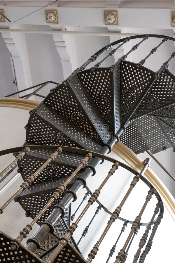 Old Carpano vermouth factory at Eataly, turin Italy. Photo shows spiral stairs and detail of original architecture. royalty free stock images