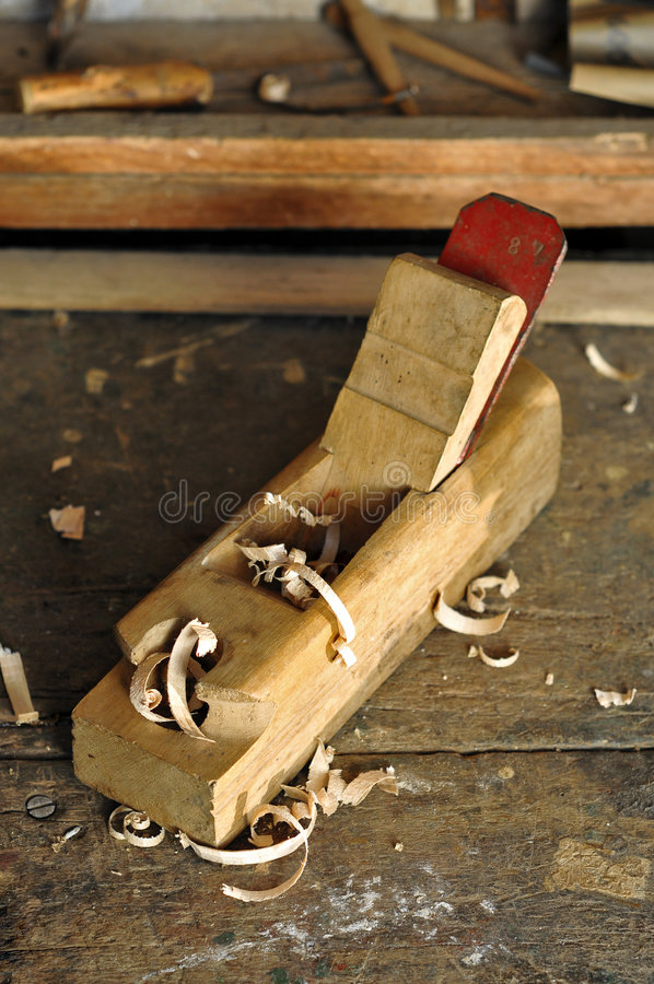 Download Old carpenter plane tool stock image. Image of adjustable - 8910975