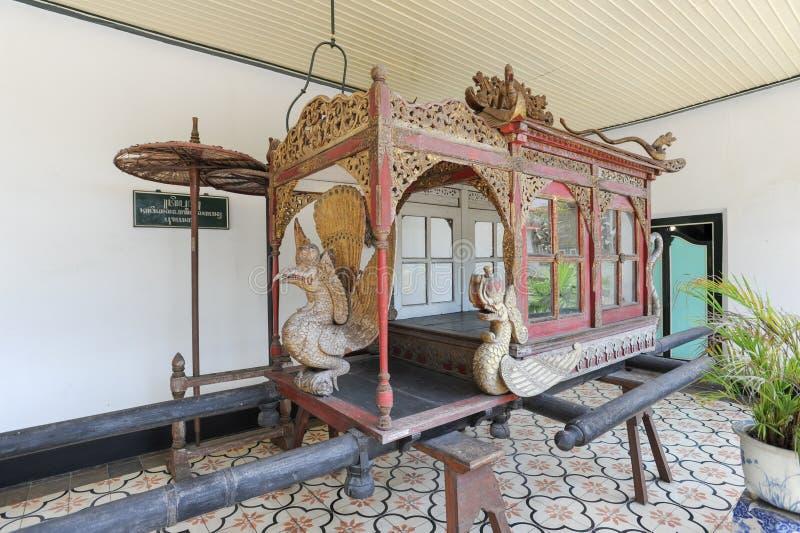 Old carriage at Kraton Palace of Yogyakarta, Indonesia stock image