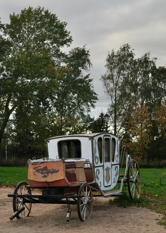 An old carriage. royalty free stock photos