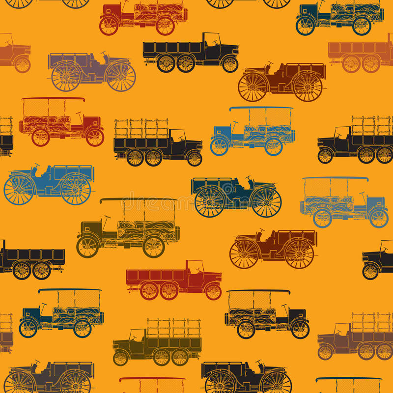 Download Old cars pattern seamless stock vector. Illustration of backgrounds - 26815061