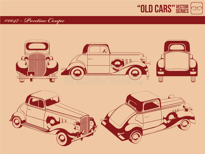 Old Cars  - Pontiac Coupe Royalty Free Stock Image