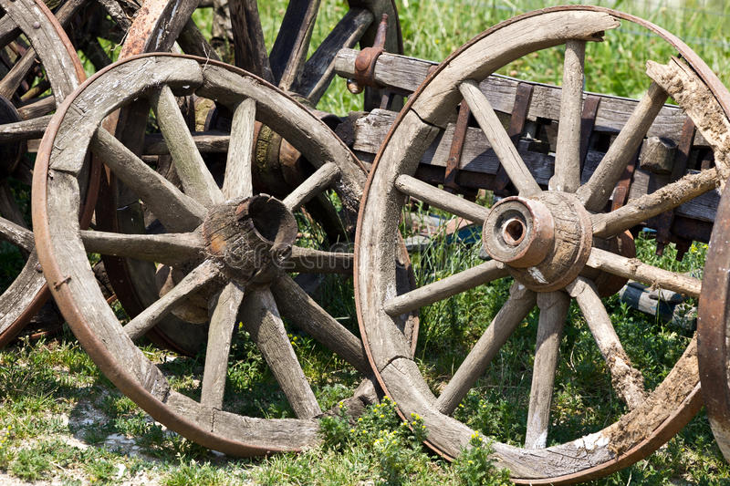 Download Old cart wheels stock image. Image of next, grass, cart - 26329285