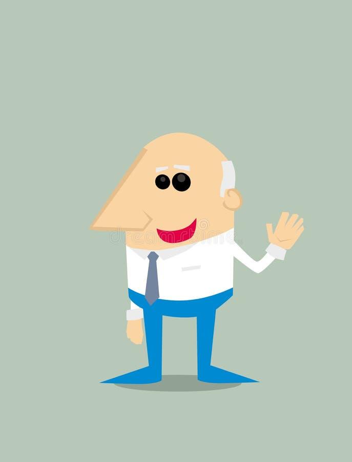 Old Cartoon businessman. Vector illustration background vector illustration