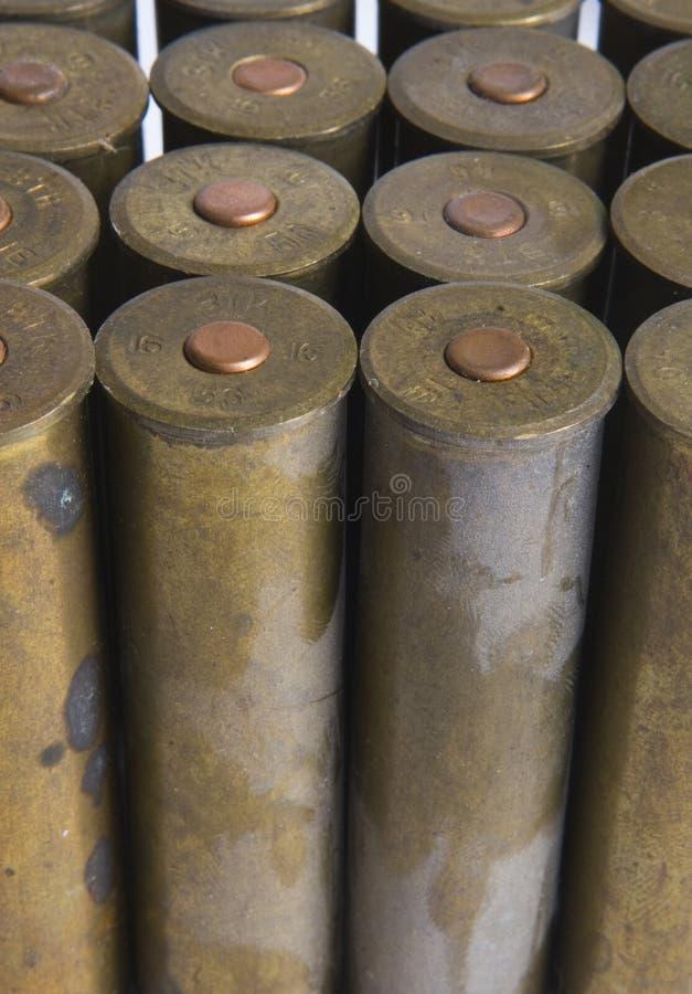 Old Cartridges For Shotgun Stock Photos