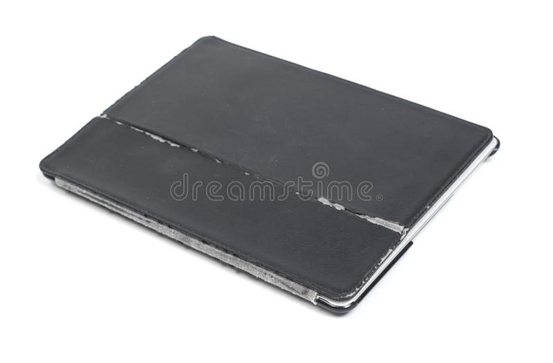 Old case cover for tablet royalty free stock photo