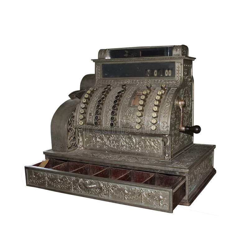 An old cash-desk stock image