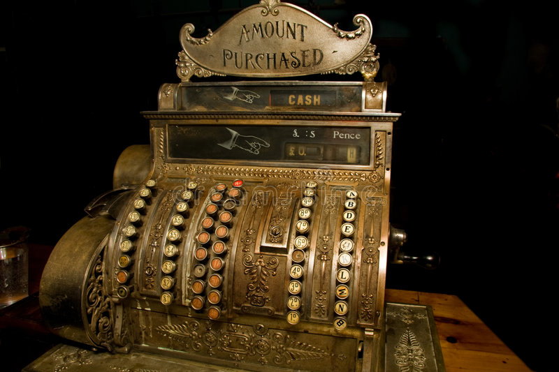 Download Old cash register stock image. Image of shop, antique - 9254897