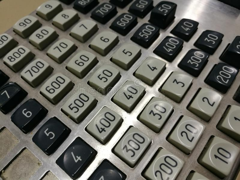 Old cash register royalty free stock photography