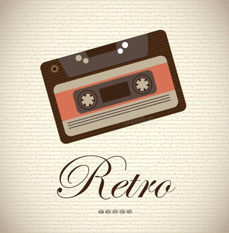 Old cassette vector illustration