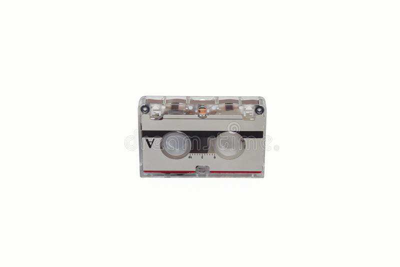 Old Cassette Tape Cartridge on white. royalty free stock image