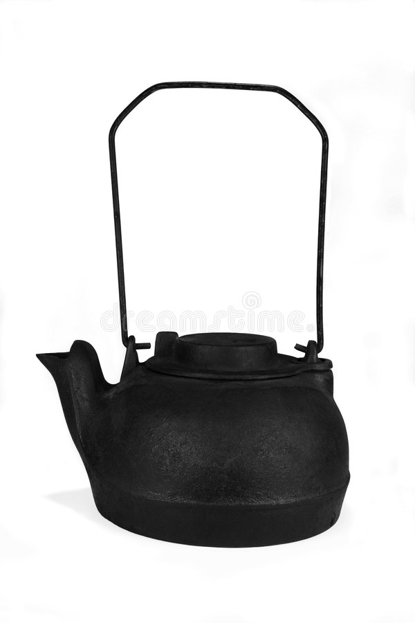 Old Cast Iron Kettle stock image