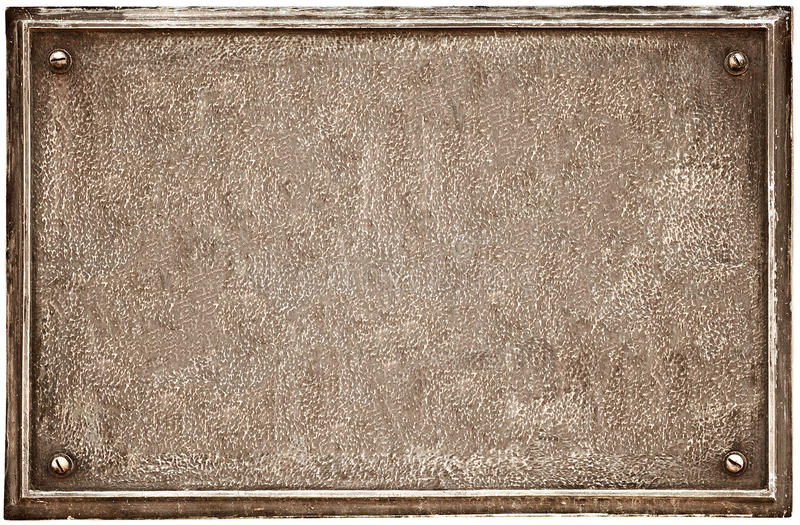 Old cast-iron plaque on white royalty free stock image