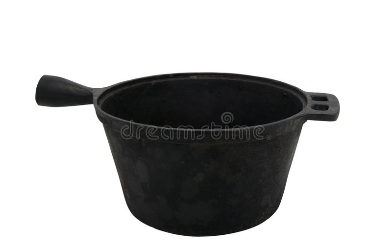 Download Old cast iron pot stock image. Image of kitchen, metal - 14922381