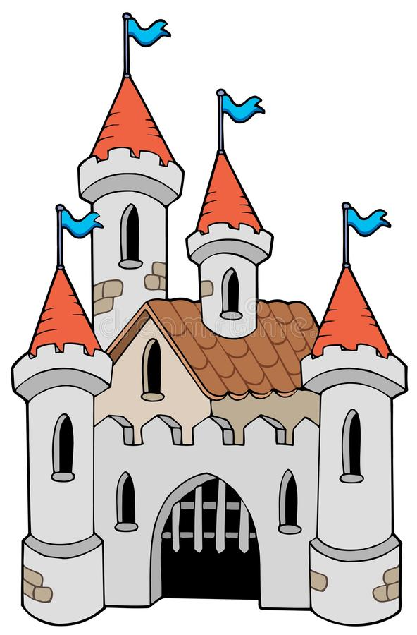Old castle vector illustration