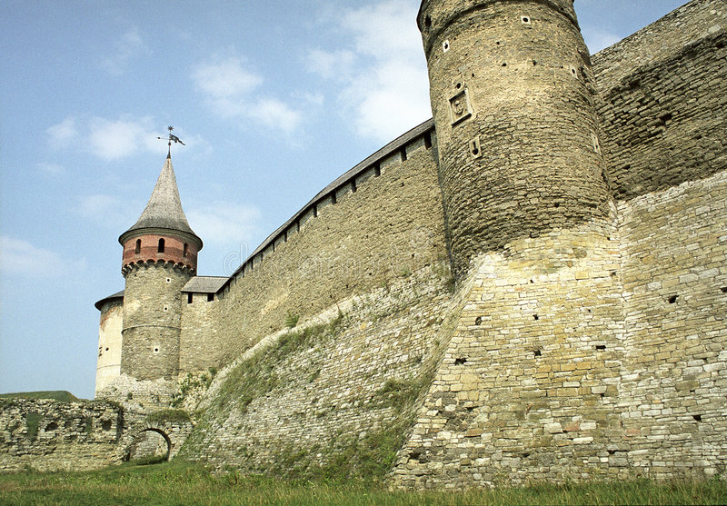 Old castle. Old middle ages castle in Ukraine royalty free stock photos