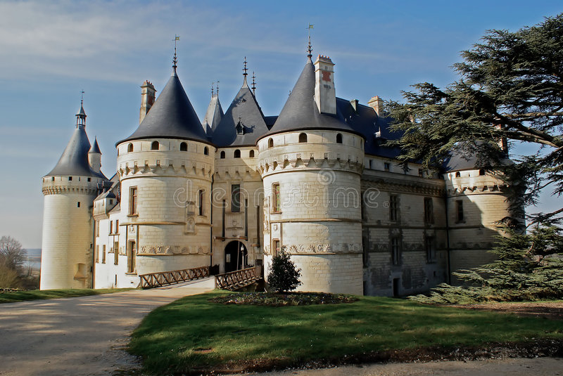 Old castle. In France, Loire valley stock image