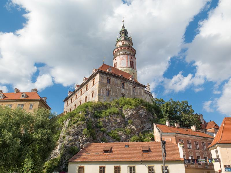 Old castle and architechture of cesky krumlov in Czechia royalty free stock images