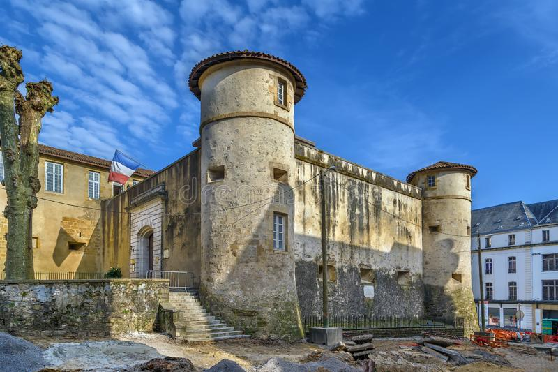 Old Castle of Bayonne, France. Chateau Vieux, also known as the Old Castle of Bayonne, is a castle, located in Bayonne, Nouvelle-Aquitaine, France stock photo